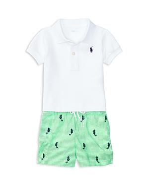 Ralph Lauren Childrenswear Boys Polo  Seahorse Print Shorts Set  Baby