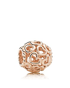 PANDORA Sterling Silver Open Your Heart Rose Charm - Bloomingdale's_0