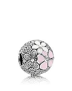 PANDORA Sterling Silver, Cubic Zirconia & Mixed Enamel Poetic Blooms Charm - Bloomingdale's_0