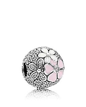 Pandora - Sterling Silver, Cubic Zirconia & Mixed Enamel Poetic Blooms Charm