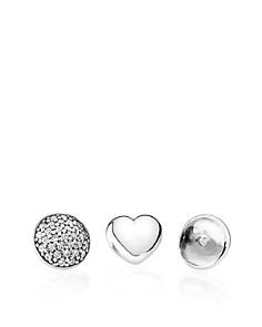 PANDORA Charms - Sterling Silver, Rock Crystal & Cubic Zirconia April Petites, Set of 3 - Bloomingdale's_0