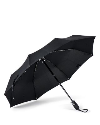 SHEDRAIN Stratus Collection Dualmatic Compact Umbrella in Black/ Black Matte
