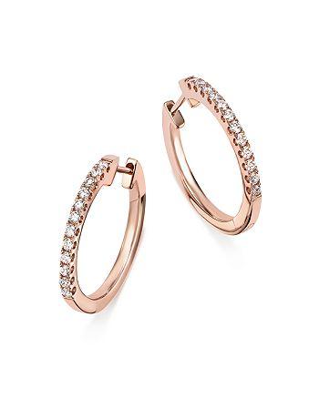 Bloomingdale's - Diamond Hoop Earrings in 14K Rose Gold, .30 ct. t.w. - 100% Exclusive