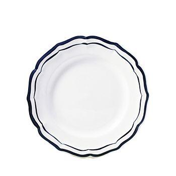 Gien France - Filet Bleu Indigo Salad Plate