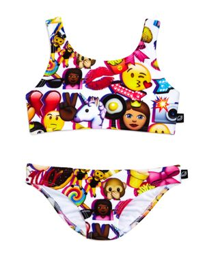 Terez Girls' Emoji 2-Piece Swimsuit - Little Kid, Big Kid
