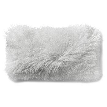 """Donna Karan - Flokati Decorative Pillow, 11"""" x 22"""""""
