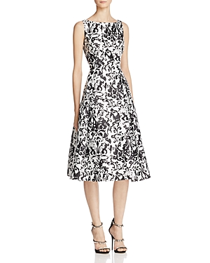 Adrianna Papell Printed Fit-and-Flare Dress