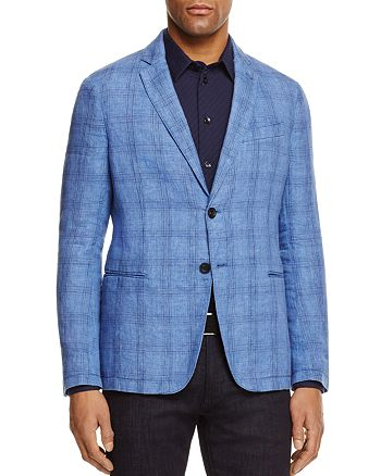 Armani - Plaid Regular Fit Sport Coat