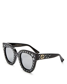 Gucci - Women's Oversized Swarvoski Stars Cat Eye Sunglasses, 50mm