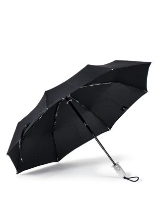 SHEDRAIN Stratus Collection Dualmatic Compact Umbrella in Black/White