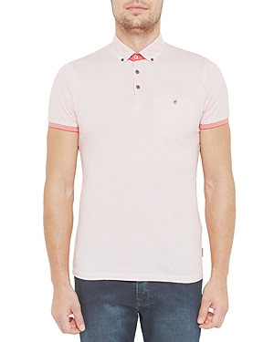 Ted Baker Mesh Printed Regular Fit Polo