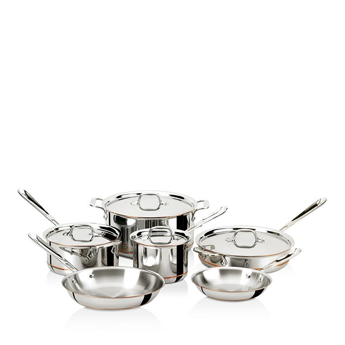 All-Clad - Copper Core 5-Ply Bonded 10-Piece Cookware Set
