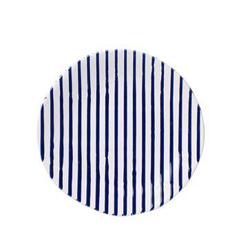 VIETRI - Net & Stripe Stripe Salad Plate