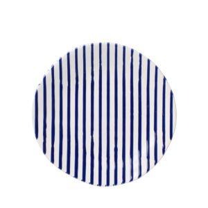 Vietri Net & Stripe Stripe Salad Plate