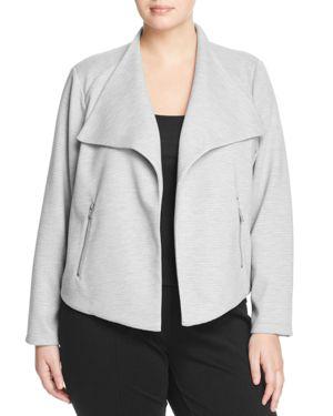 Calvin Klein Plus Textured Flyaway Jacket