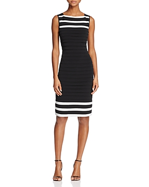 Adrianna Papell Color-Block Banded Dress
