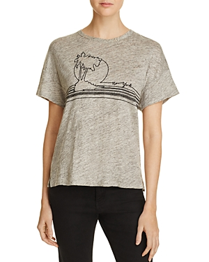rag & bone/Jean Palm Tree Embroidered Tee
