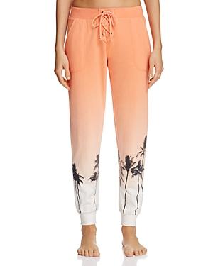 Pj Salvage Palm Tree Dip-Dye Jogger Pants