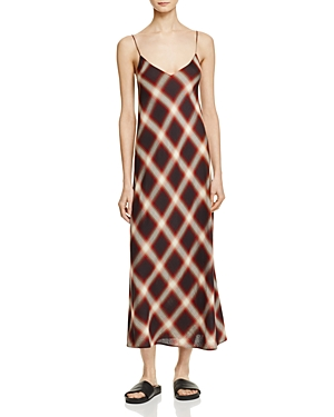 Vince Plaid Slip Dress