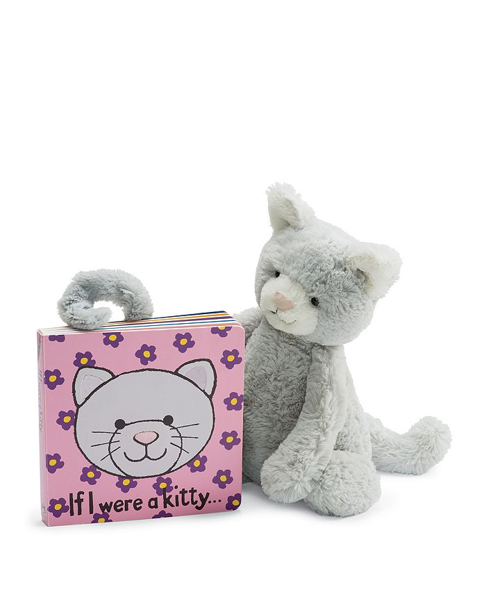 Jellycat - Gray Kitty & If I Were a Kitty Book - Ages 0+