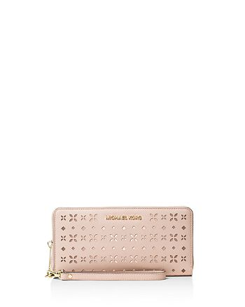 2ace6c2e9719 MICHAEL Michael Kors - Jet Set Travel Floral Perforated Continental Wallet