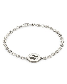Gucci Sterling Silver Small Interlocking G Cluster Chain Bracelet - Bloomingdale's_0