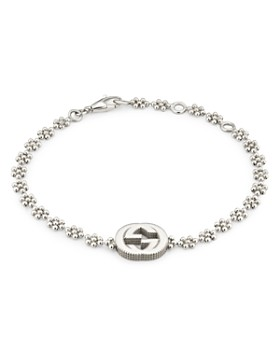 3e23ed5d5 Gucci - Sterling Silver Small Interlocking G Cluster Chain Bracelet
