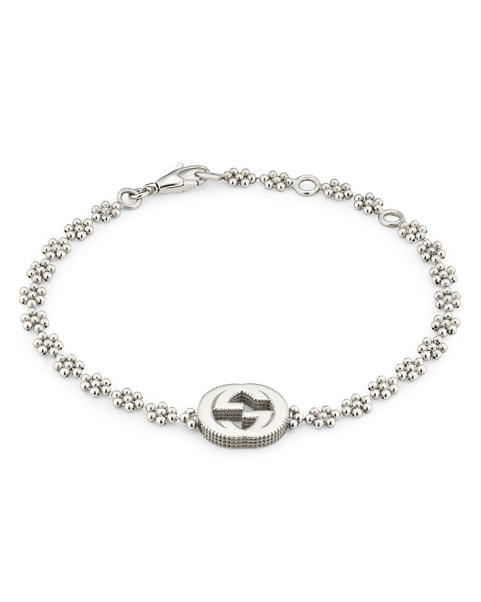 Gucci - Sterling Silver Small Interlocking G Cluster Chain Bracelet