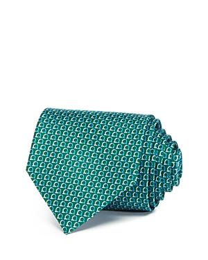Salvatore Ferragamo Dual Tone Gancini Classic Tie