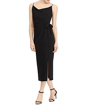 Lauren Ralph Lauren Faux Wrap Jersey Dress