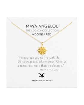 """Dogeared - Maya Angelou Legacy Collection """"I Encourage You"""" Necklace, 16"""""""