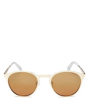 Polaroid - Women's Mirrored Polarized Round Sunglasses, 50mm