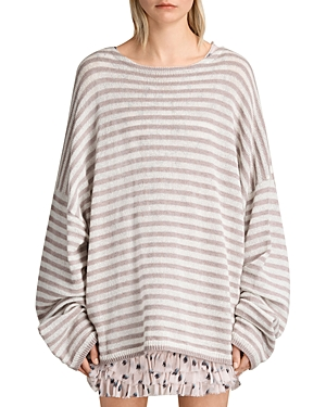 Allsaints Casso Striped Crewneck Sweater