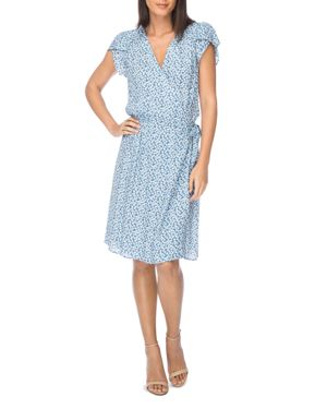 B Collection by Bobeau Natalie Floral Print Wrap Dress