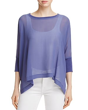 Eileen Fisher Petites Two-Piece Sheer High/Low Top