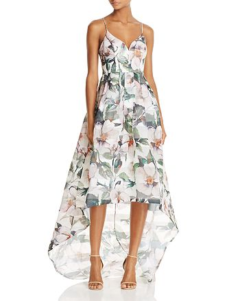 Bariano - Floral High/Low Gown