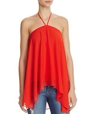 Alice + Olivia Tish Tie-Neck Handkerchief Top
