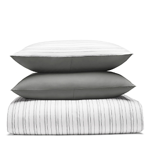 Bloomingdales Essentials Relaxed Stripe Duvet Cover Set King