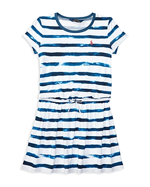 Ralph Lauren Childrenswear Girls' Tie Dye Stripe Shirt Dress - Big Kid