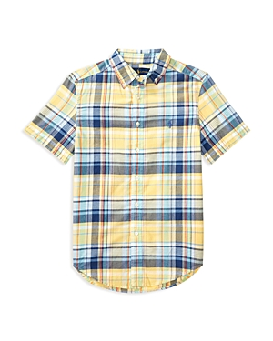 Ralph Lauren Childrenswear Boys' Madras Button Down Shirt - Big Kid