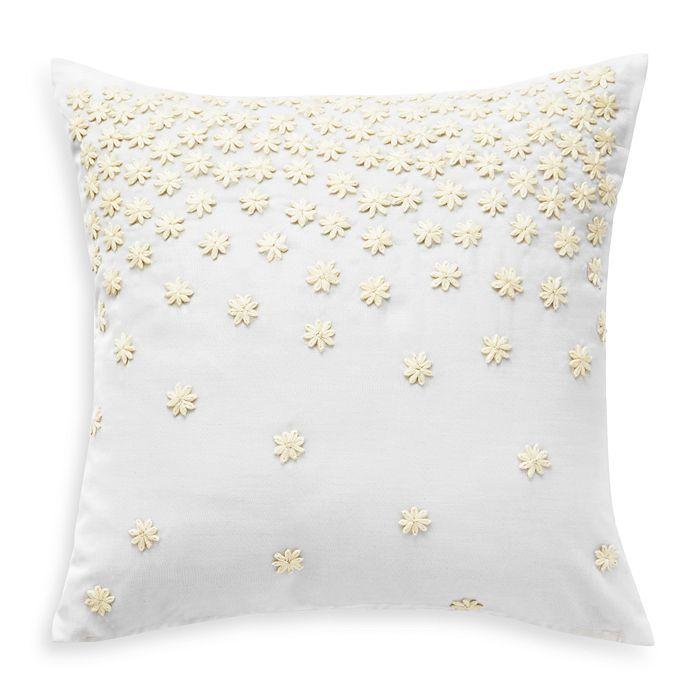 "bluebellgray - Textural Embroidery Decorative Pillow, 16"" x 16"""