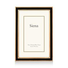 """Siena Black Enamel with Gold Frame, 5"""" x 7"""" - Bloomingdale's_0"""