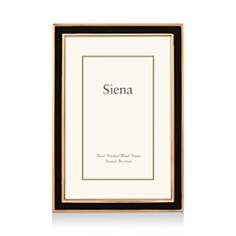 "Siena - Black Enamel with Gold Frame, 5"" x 7"""