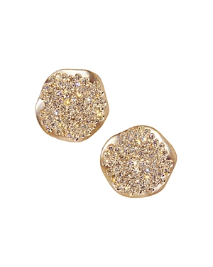 Antonini 18K Rose Gold Anniversary Small Pave Champagne Diamond Earrings