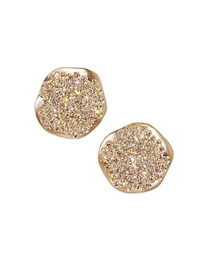 Antonini 18K Rose Gold Anniversary Small Pave Champagne Diamond Earrings