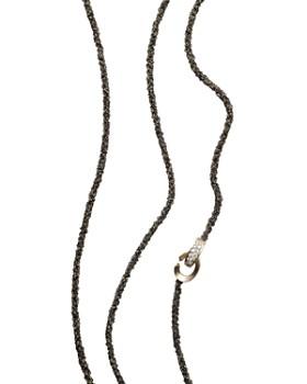 "Antonini - 18K White Gold Matera Chain and Silvermist Diamond Necklace, 42"""