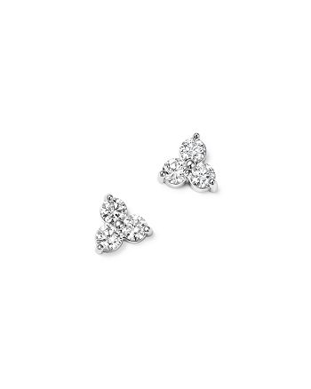 Bloomingdale's - Diamond Three Stone Stud Earrings in 14K White Gold, 0.38 ct. t.w. - 100% Exclusive