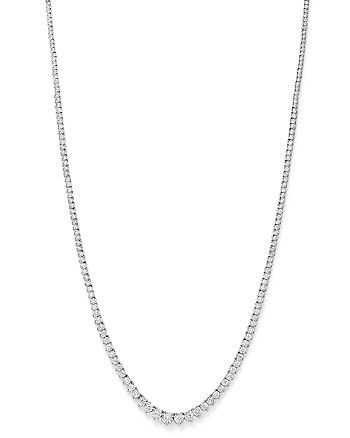 Bloomingdale's - Diamond Graduated Tennis Necklace in 14K White Gold, 3.0 ct. t.w.