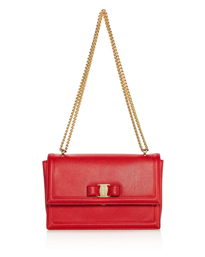 Salvatore Ferragamo - Medium Ginny Calfskin Shoulder Bag
