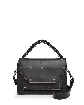 Eclipse Starry Night Medium Leather Satchel by Elena Ghisellini